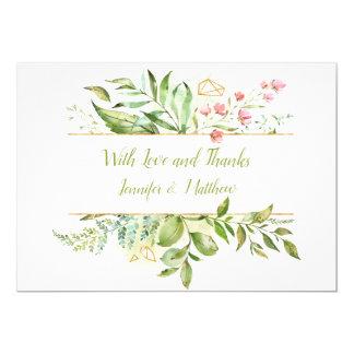 Botanical Watercolor Splash Thank You | Card