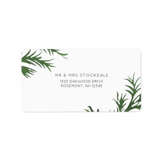Botanical Wedding Return Label