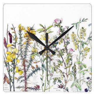 Botanical Wildflower Flowers Meadow Wall Clock