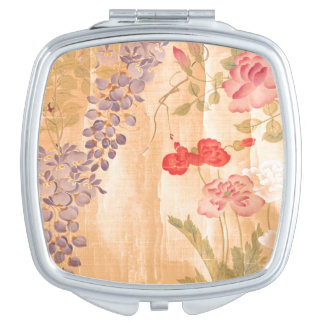 Botanical Wisteria Rose Flowers Floral Japan Makeup Mirrors