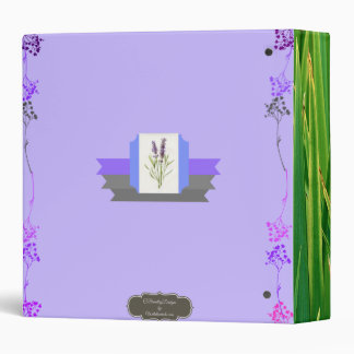 Botanicals and Essential Oils Organizer 3 Ring Binder