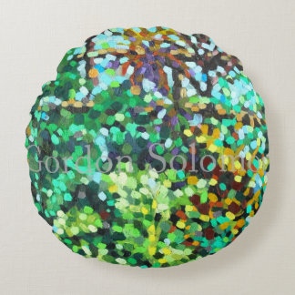 Botanics 3 round pillow