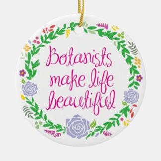 Botanist Round Ceramic Ornament