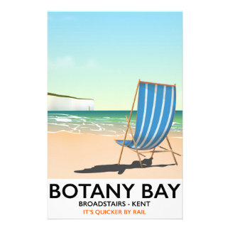 Botany Bay Broadstairs Kent beach holiday poster Stationery Design