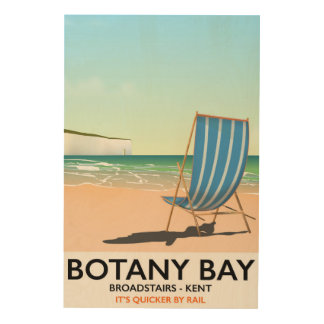 Botany Bay, Broadstairs Kent beach travel poster