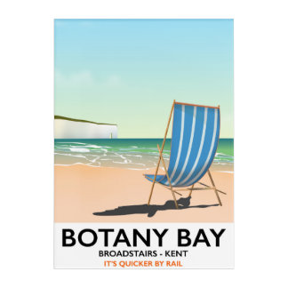 Botany Bay, Broadstairs Kent beach travel poster Acrylic Print