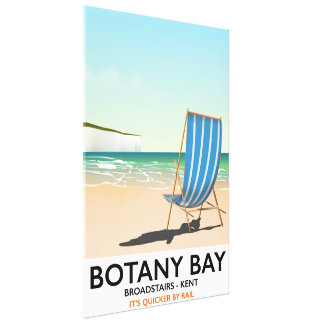 Botany Bay, Broadstairs Kent beach travel poster Canvas Print
