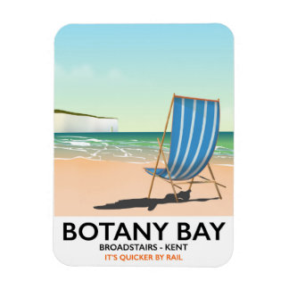 Botany Bay, Broadstairs Kent beach travel poster Rectangular Photo Magnet