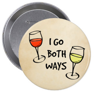 Both Ways Wine Glasses 4 Inch Round Button