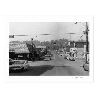 Bothell, WA - Downtown Street Scene Photograph Postcard