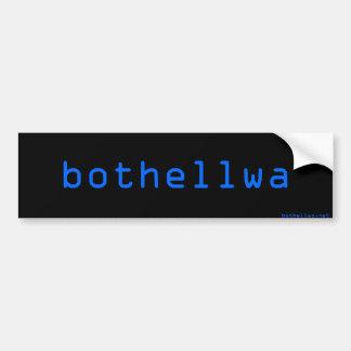 bothellwa bump bumper sticker