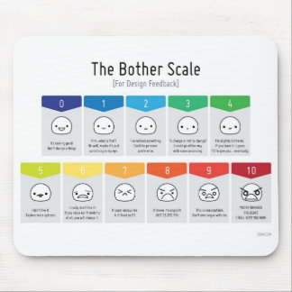 Bother Scale For Design Feedback Mousepad