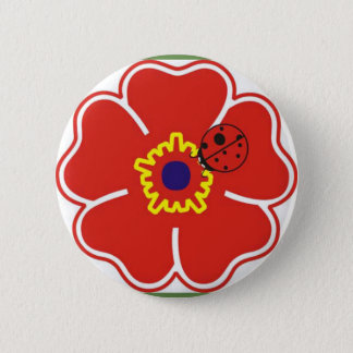 Botom Flor and Joaninha 2 Inch Round Button