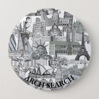 Bóton 10,2cm Mural Arch Search 4 Inch Round Button