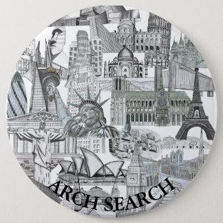 Bóton 15,2cm Mural Arch Search 6 Inch Round Button
