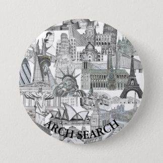 Bóton 7,6cm Mural Arch Search 3 Inch Round Button