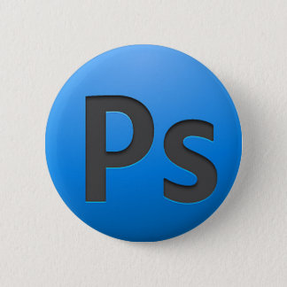 Boton Adobe Photoshop 2 Inch Round Button