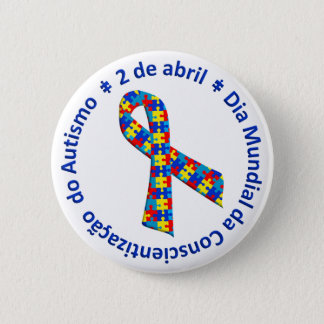 Bóton Awareness of the Autismo 2 Inch Round Button