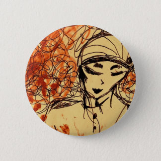 Boton - Rose Drawing 2 Inch Round Button