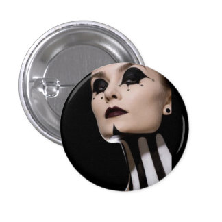 Boton Woman Clown 1 Inch Round Button