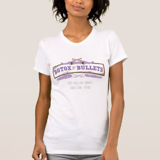 Botox and Bullets - Ladies Distressed T T-Shirt