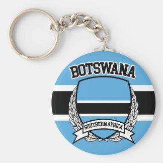 Botswana Basic Round Button Keychain
