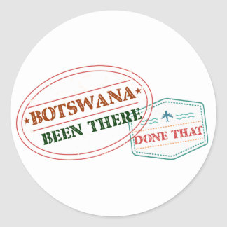 Botswana Been There Done That Classic Round Sticker