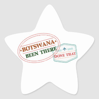 Botswana Been There Done That Star Sticker