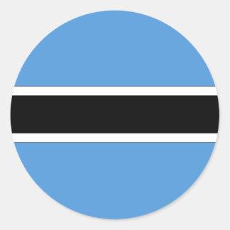 Botswana Classic Round Sticker