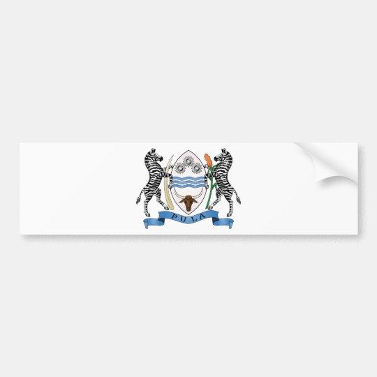 Botswana coat of arms bumper sticker