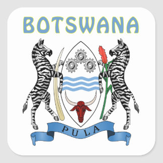 Botswana Coat Of Arms Square Sticker