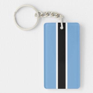 Botswana Double-Sided Rectangular Acrylic Keychain