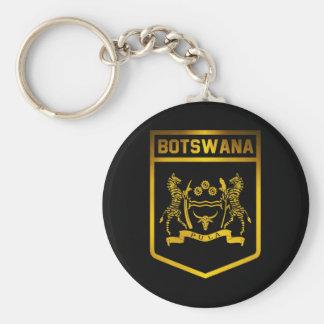 Botswana Emblem Basic Round Button Keychain