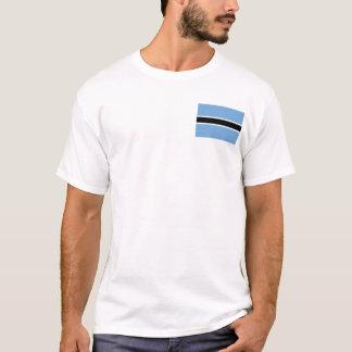 Botswana Flag and Map T-Shirt