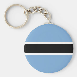 Botswana flag basic round button keychain