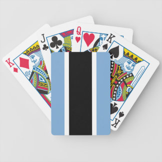 Botswana flag bicycle playing cards