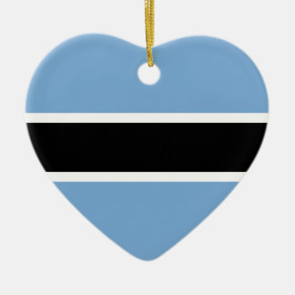 Botswana flag ceramic ornament