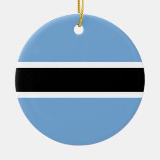 Botswana Flag Ceramic Ornament