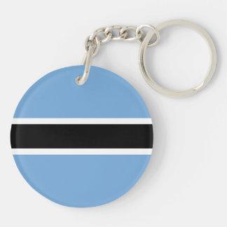 Botswana Flag Double-Sided Round Acrylic Keychain