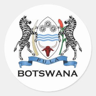 BOTSWANA - flag/emblem/coat of arms/symbol Classic Round Sticker