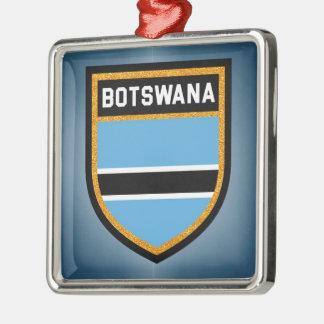 Botswana Flag Metal Ornament