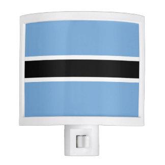Botswana Flag Night Lights