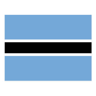 Botswana Flag Postcard