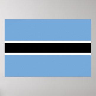 Botswana Flag Poster