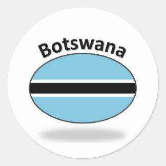 Botswana Flag Round Sticker