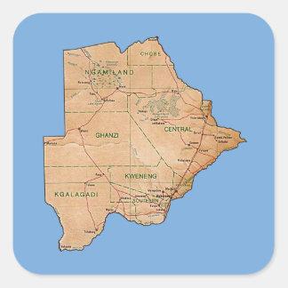 Botswana Map Sticker
