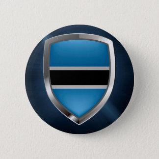 Botswana Mettalic Emblem 2 Inch Round Button