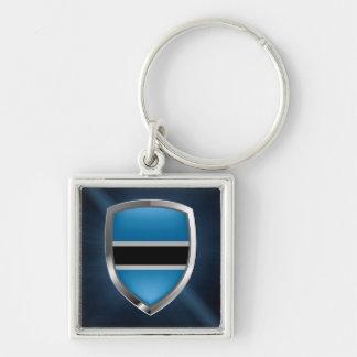 Botswana Mettalic Emblem Keychain