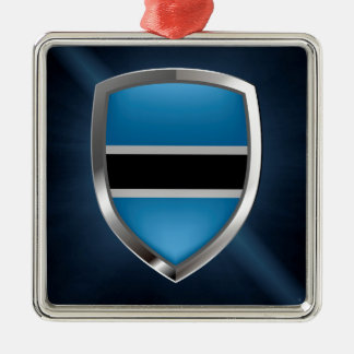 Botswana Mettalic Emblem Metal Ornament