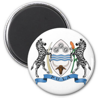Botswana Official Coat Of Arms Heraldry Symbol 2 Inch Round Magnet